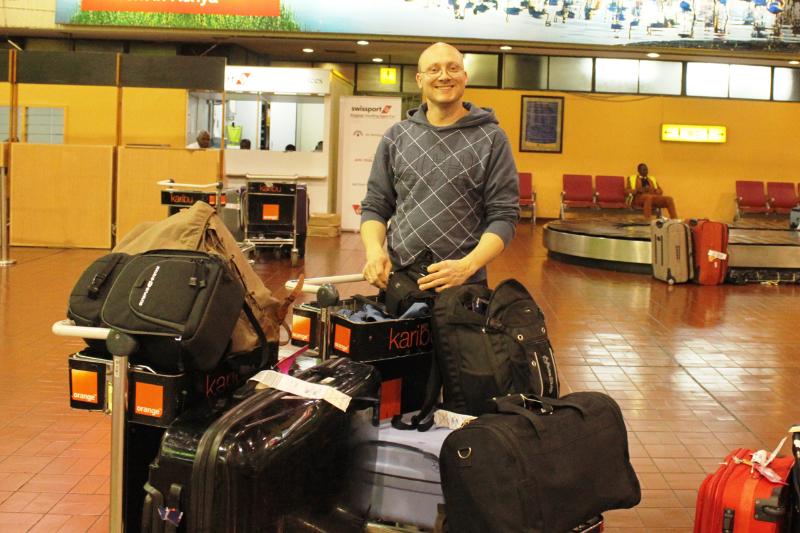Endelig har vi kommet frem til flyplassen i Nairobi