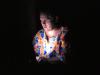 Blogging i stupmørket i Giribe. Det eneste lyset denne natten