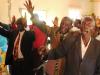 Det er full dans og jubel blandt evangelistene