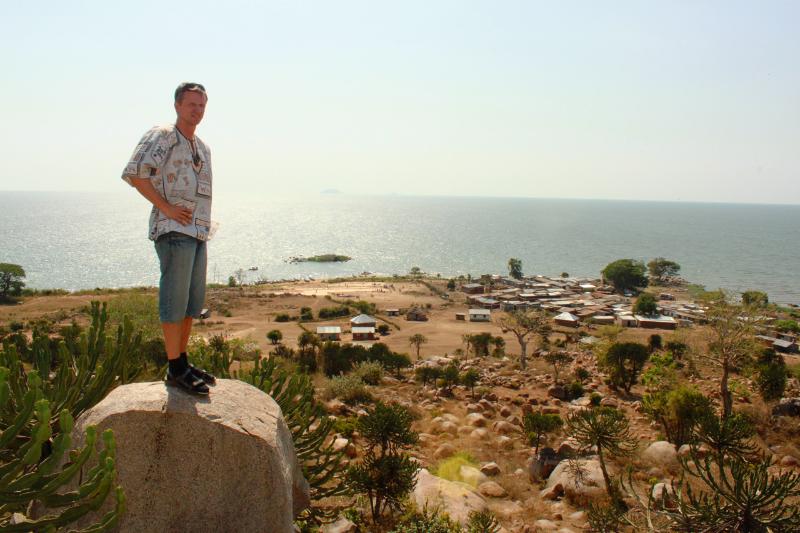 Ernst ved toppen av fjellet like ved Got Kachola