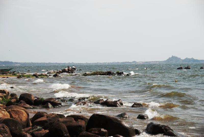 Fint utsikt over viktoria sjøen